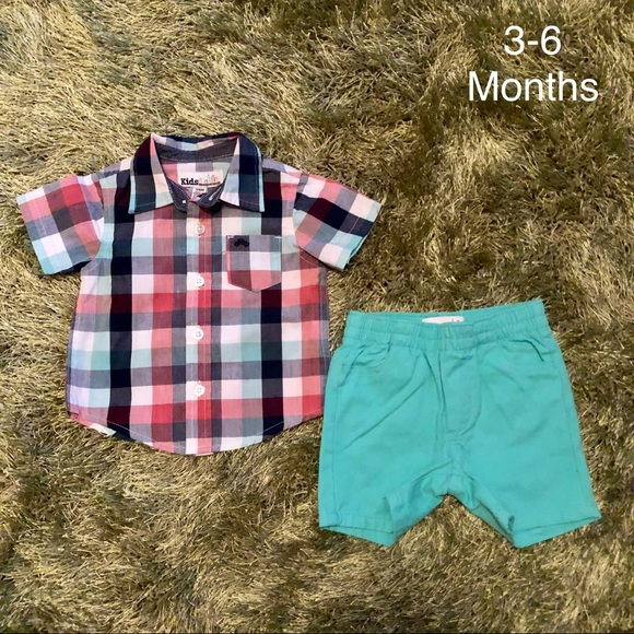 67ddacc18919 Kids Headquarters Other - NWOT baby boy plaid Polo   Short Set